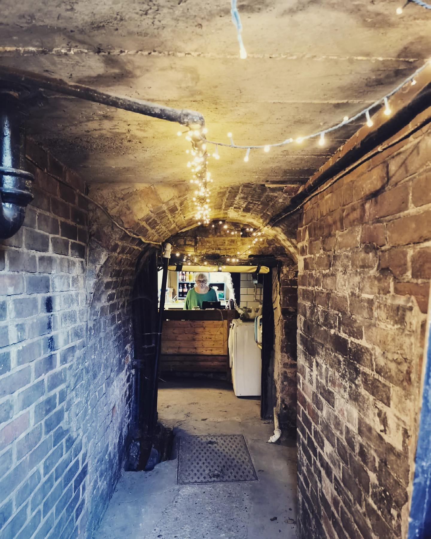 The path to the pints! Have you seen our basement bar yet? #realalepub #winchester #pubgarden #hampshirepubs #pottsbrewery #postlockdownpint #winchesterpubs #independentvenue #beergarden #grassrootsvenue #realale #pub #beergarden #bar #localpub